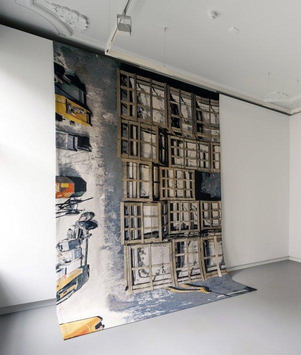 Barbara Visser, Moving Rooms, Baroque Ceiling (Copy), Amsterdam Museum Depot, 2013
