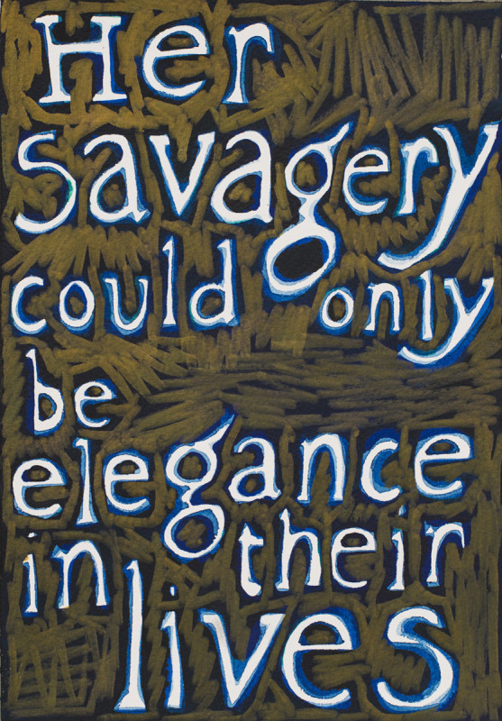 Jade Montserrat, Her savagery could only be elegance in their lives, 2017