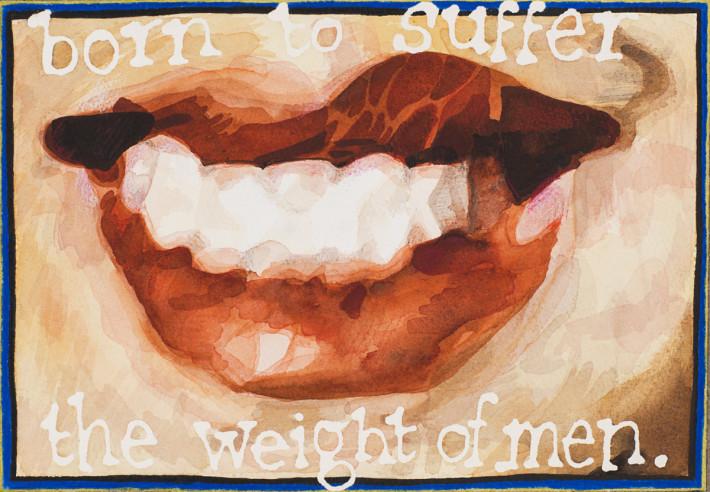 Jade Montserrat, Born to suffer the weight of men, 2015