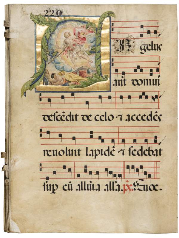 Artistic Showcase: Antiphonal with the proprium de tempore, 1550