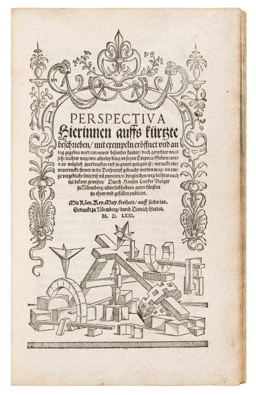 Hans Lencker, Lencker's Perspectiva – Didactic Manual Including a Special Instrument, 1571