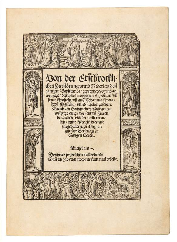 David de Negker, On the Terrible Destruction and Decline of the Entire Papacy, 1558
