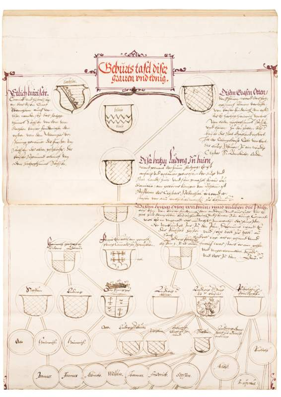 Two Chronicles of Bavarian Nobility in Original, Gilt Ottheinrich Binding, 1550-1553