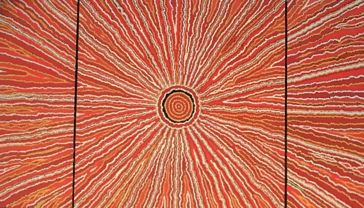 "<span class=""artist""><strong>Malcolm Jagamarra</strong></span>, <span class=""title""><em>Inapaku (Lake Surprise) </em>, 2001</span>"