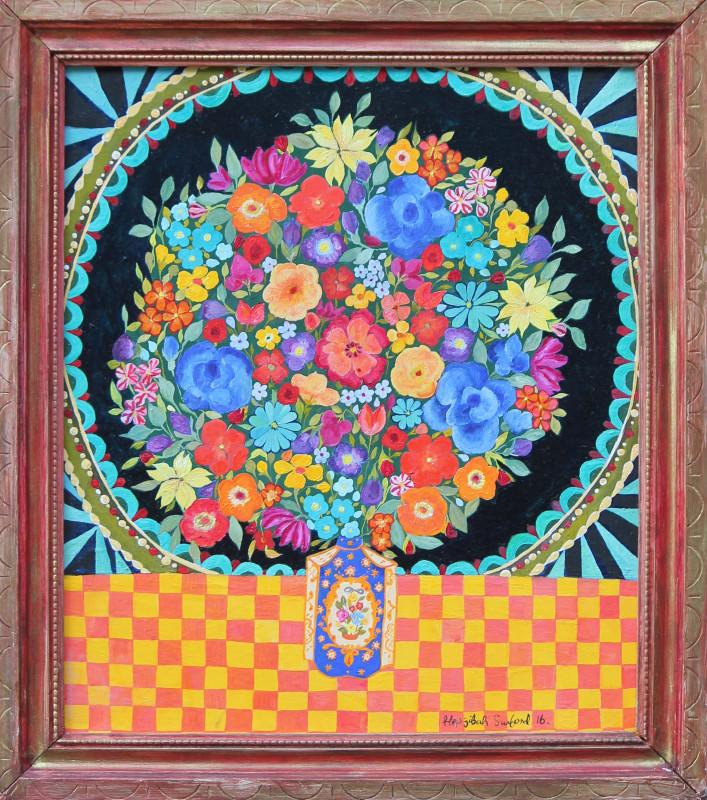 """<span class=""""artist""""><strong>Hepzibah Swinford</strong></span>, <span class=""""title""""><em>Flowers in a jar</em>, 2016</span>"""