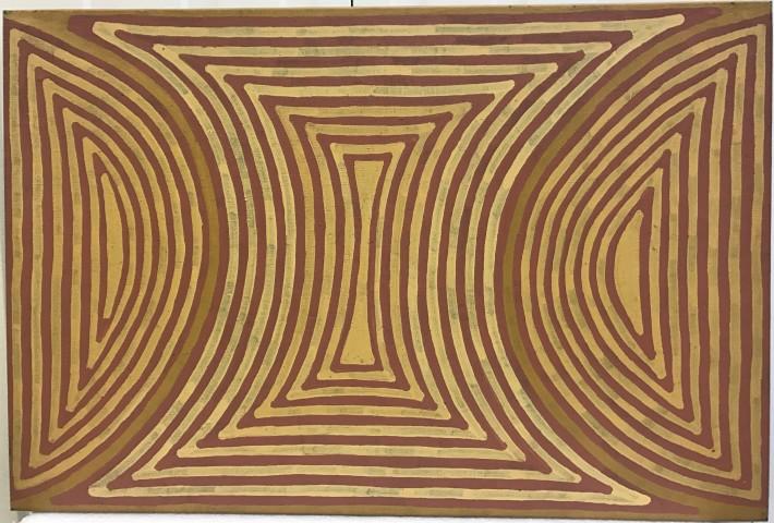 """<span class=""""artist""""><strong>Mick Namarari Tjapaltjarri</strong></span>, <span class=""""title"""">Untitled, 1994</span>"""