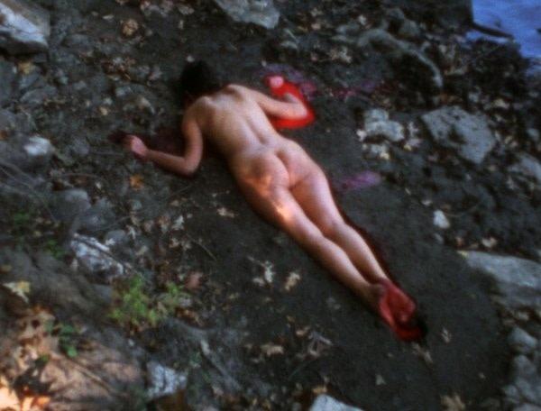 Ana Mendieta 'Silhueta Sangrienta' 1975, film still.
