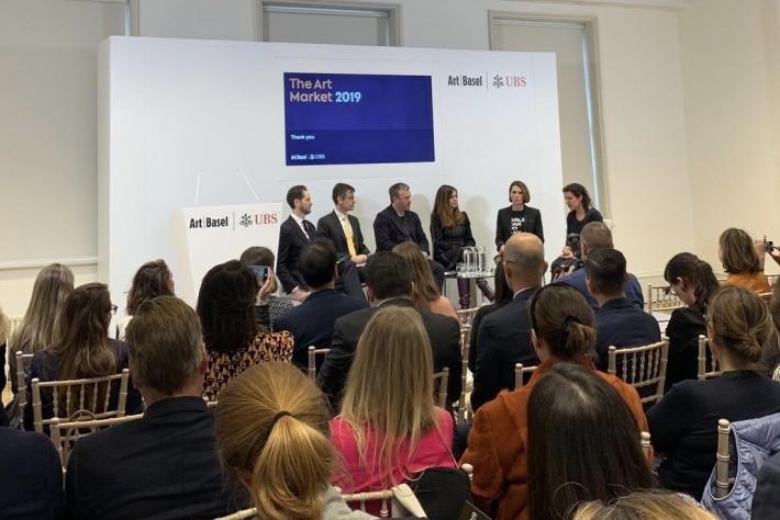 Alison Jacques with Noah Horowitz, Mark Haefele, Stuart Shave, Clare McAndrew and Melanie Gerlis.
