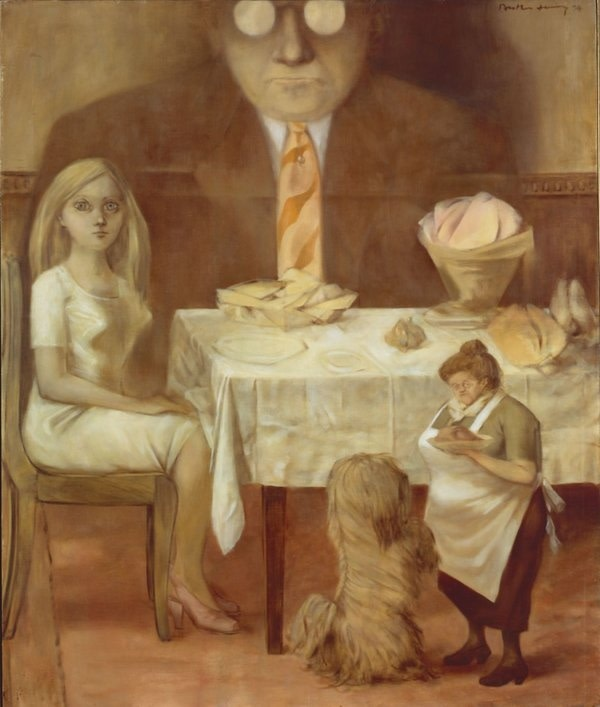 Dorothea Tanning, Family Portrait, 1954. Musée National d'Art Moderne - Centre Pompidou (Paris, France) Acquisition of the State in 1974. Center Pompidou, Paris. Musée national d'art moderne / Center de création industrielle