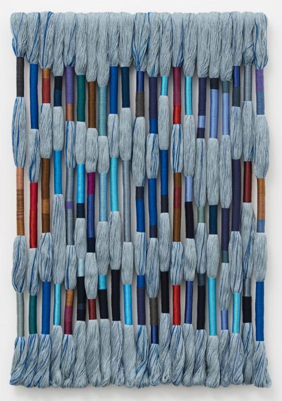 Sheila Hicks, Lianes Etoiles, 2020. Linen, cotton, wool and synthetic thread. © Sheila Hicks
