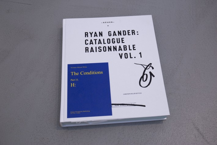Ryan Gander Catalogue Raisonnable Vol.1
