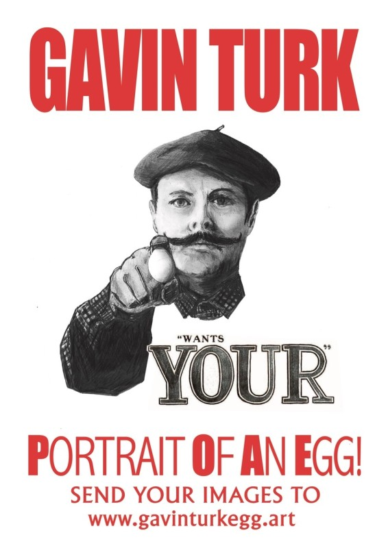 GAVIN TURK: Portrait of an Egg