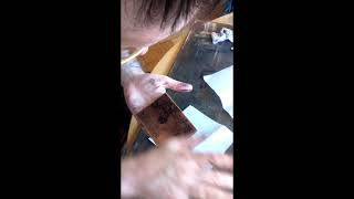 Dénes Maróti adding ink to the copper plate, Dénes Maróti gives us a glimpse into his Budapest studio. Here we...