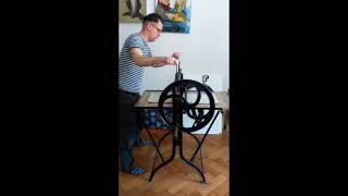 Dénes Maróti with his beloved printing press, The final video in this series exploring the practice of master print maker...