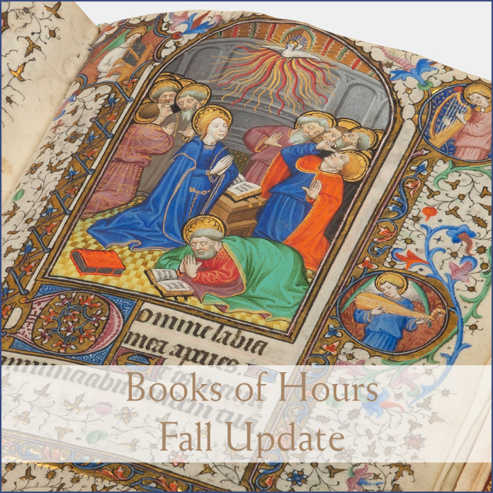 books of hours new acquisition