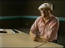 David Hockney using the Quantel Paintbox Graphics System for the BBC