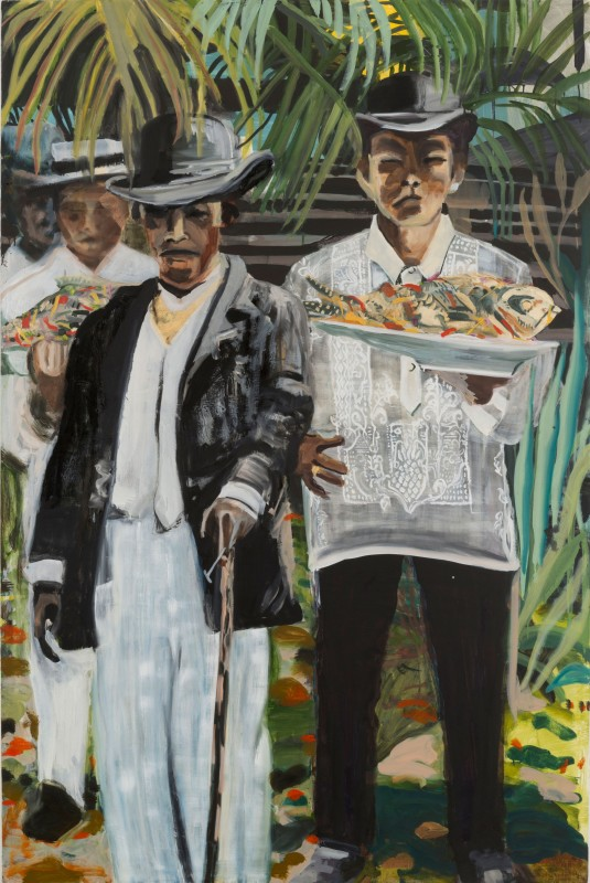 Maia Cruz Palileo, Men with Escabeche, 2017