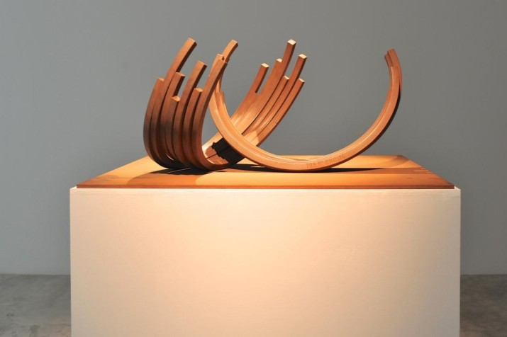 195.5˚ Arc X 14, 2012, Rolled Steel, 34.5 x 50 x 15 cm, Base: 80 x 80 cm