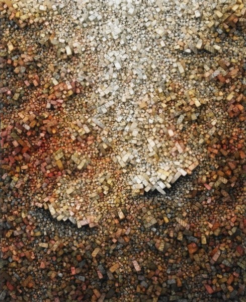 Aggregation 07– D132, 2007, Mixed media with Korean mulberry paper, 163 x 131 cm