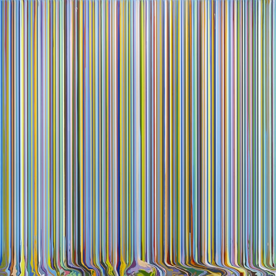 Second Season Part II, 2014, acrylic on stainless steel mounted on aluminium panels, 248.5 x 248.5 cm