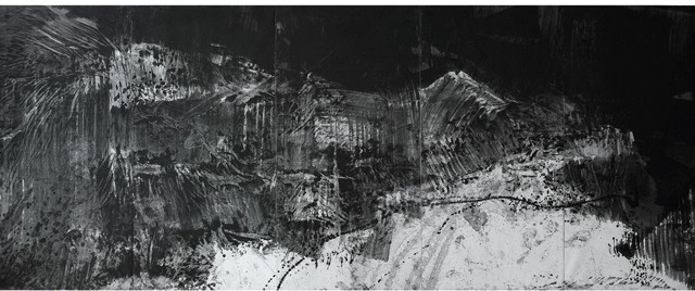 Winter, 2006, Ink on paper on canvas, 244 x 610cm