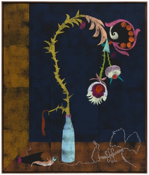 Untitled, 2013, coloured woodcut on canvas, Edition of 2, 200 x 168 cm