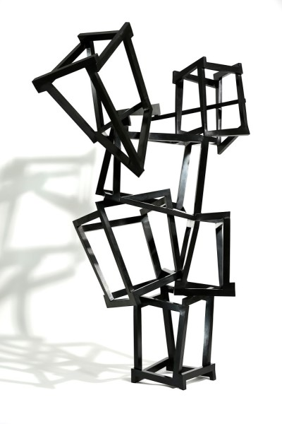 Chaos Frenético, 2014, Bronze, black patina, 182 x 107 x 130 cm