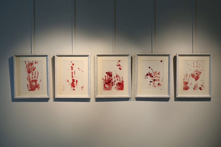 The Leprous Brightness, 2010, Gouache on wasli paper, Suite of 5 works, 33 x 25 cm each