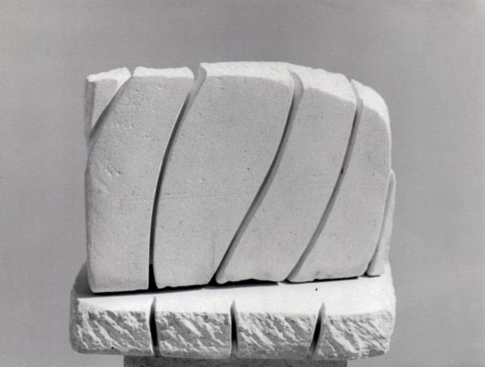 Kim Lim, Untitled Relief, 1983, Portland Stone, 24.8 x 29 x 15cm