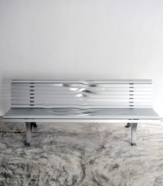 "<span class=""artist""><strong>Pablo Reinoso</strong></span>, <span class=""title""><em>Big Aluminium Bench</em>, 2008</span>"