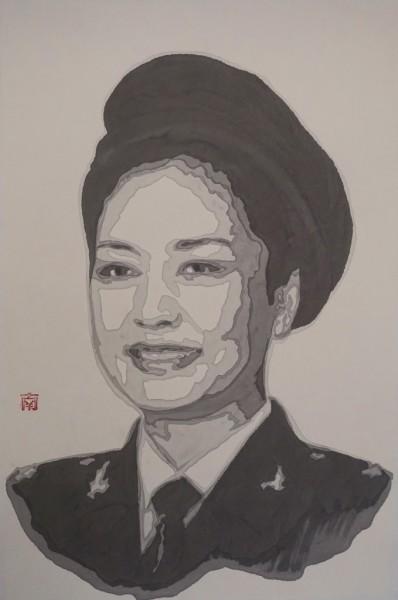 "<span class=""artist""><strong>Nan Qi</strong></span>, <span class=""title""><em>Gold Cultural Soldier B</em>, 2014</span>"