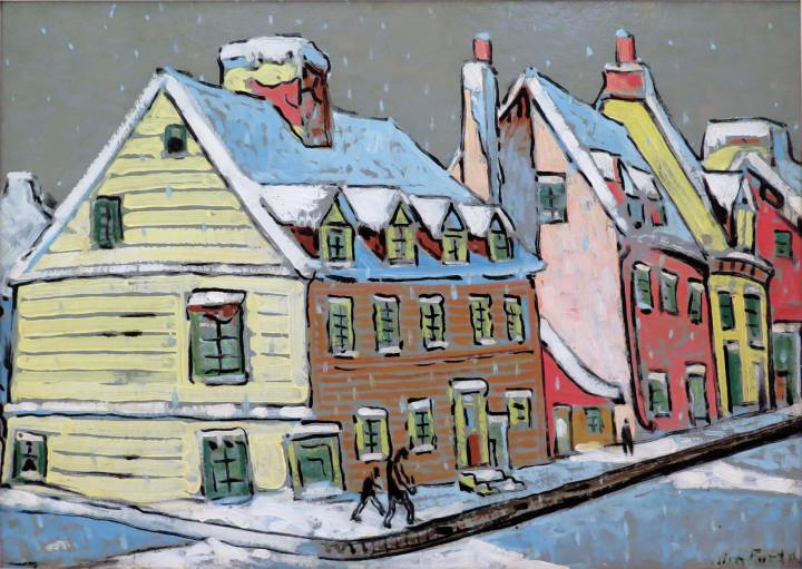 Marc-Aurèle Fortin, A.R.C.A., Paysage à Québec, 1936 (circa)