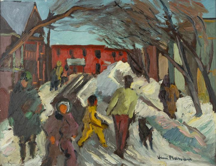 Henri L. Masson, LL.D., R.C.A., O.S.A., Lower Town, 1945 (circa)