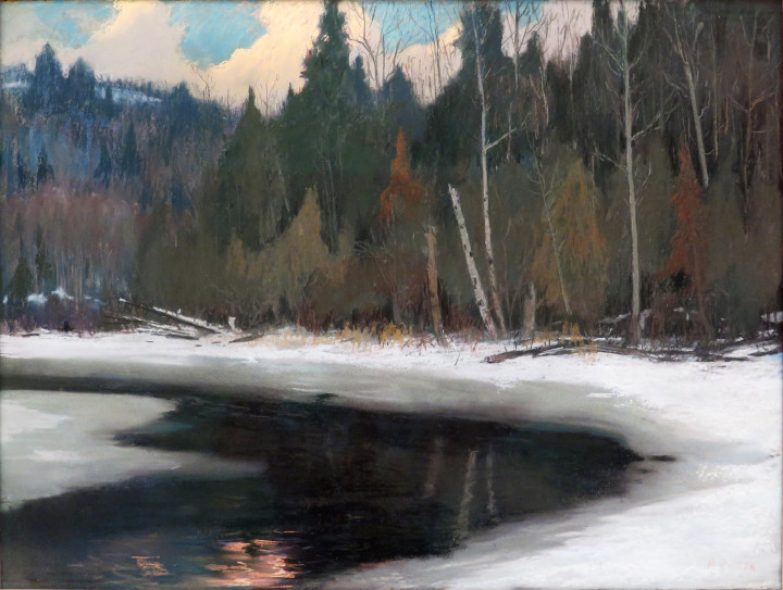 Maurice Cullen, R.C.A., Twilight in the Laurentians