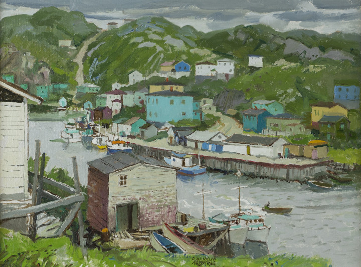Franklin Arbuckle, R.C.A., Rose Blanche Harbour, Newfoundland