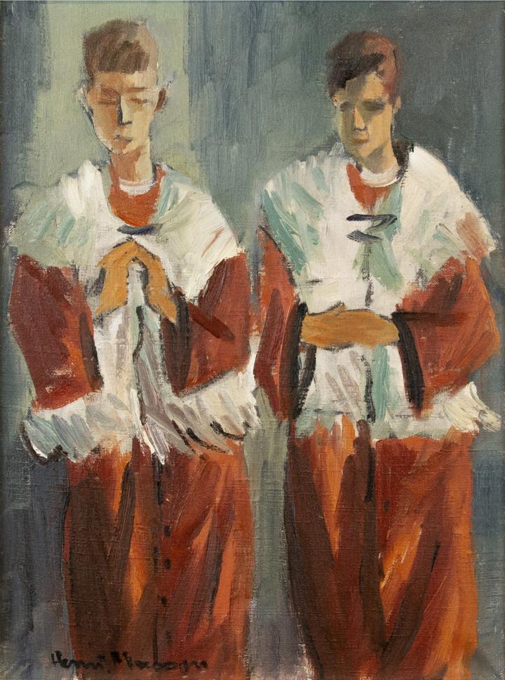 Henri L. Masson, LL.D., R.C.A., O.S.A., Altar Boys, 1958
