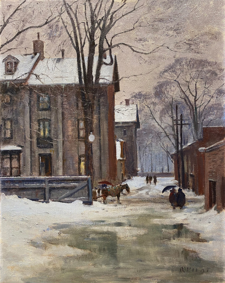 Robert Pilot The Lane, Peel Street, Montreal, 1950 (circa) Oil on canvas 28 x 22 in 71.1 x 55.9 cm
