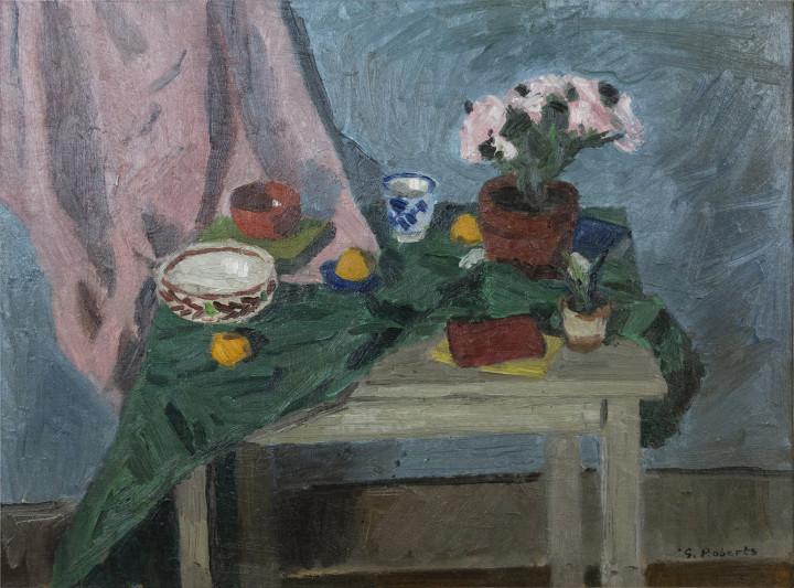 Goodridge Roberts Still Life and Table, 1954 (circa) Oil on masonite 22 1/2 x 30 in 57.1 x 76.2 cm