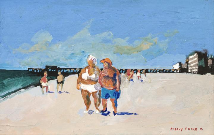 Molly Lamb Bobak The Big Couple, 1991 Oil on canvas board 7 x 11 in 17.8 x 27.9 cm
