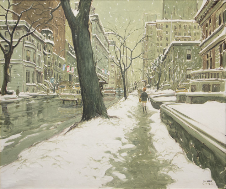 John Little Sherbrooke Street West, 1968 (circa) Oil on canvas 30 x 36 in 76.2 x 91.4 cm