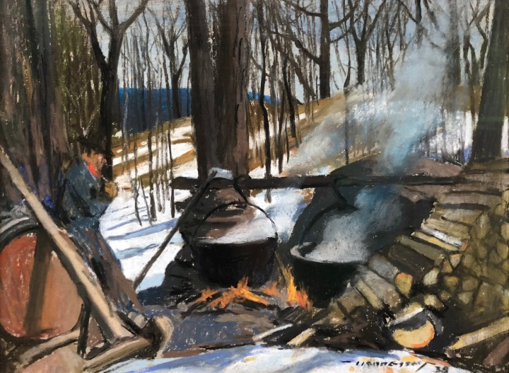 Frank Hennessey Canteen, Woodcutting Camp, 1938 Pastel - Pastel 8 1/2 x 11 1/2 in 21.6 x 29.2 cm