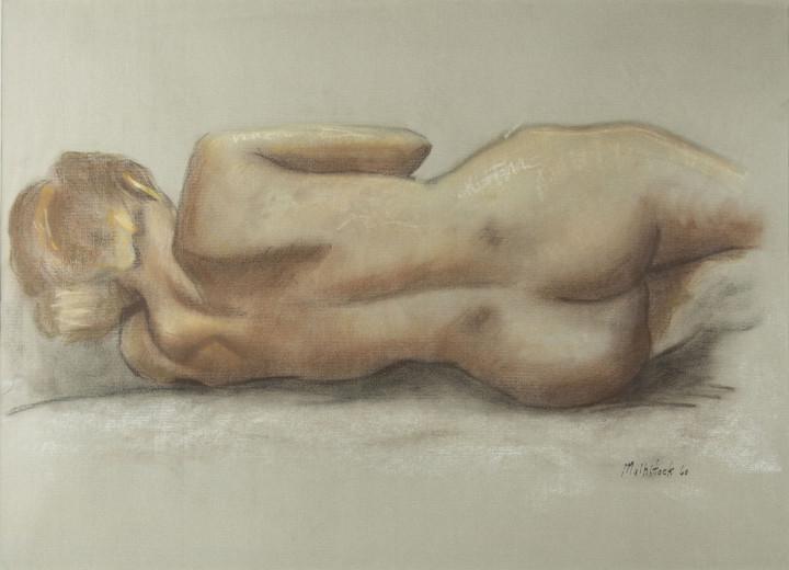 Louis Muhlstock, Reclining Nude, 1960
