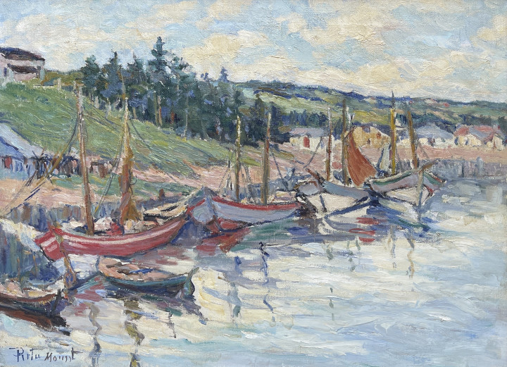 Rita Mount Anse-à-Beaufils, Gaspé Oil on canvas 18 x 24 in 45.7 x 61 cm