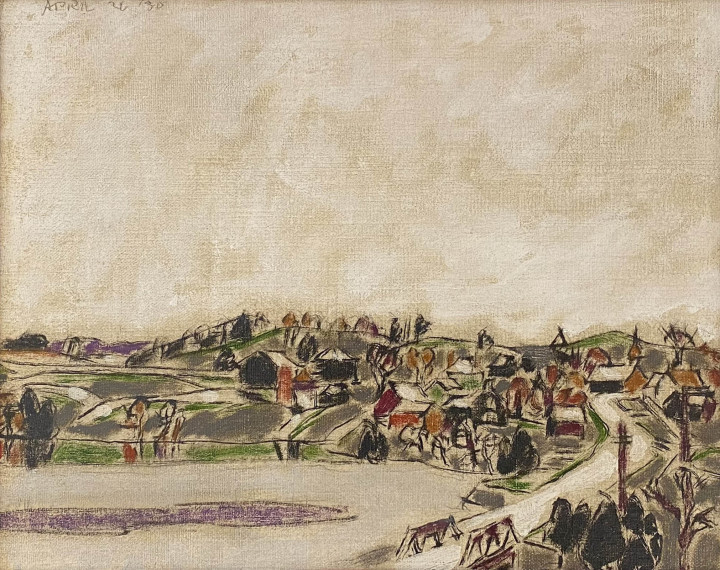 David Milne, Palgrave across the Pond (Palgrave, Ontario), 1930 (April 26)