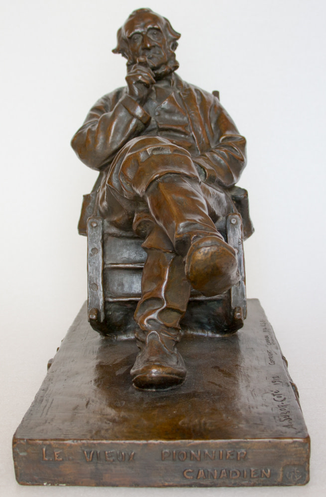 Marc-Aurèle Suzor-Coté Le vieux pionnier canadien, 1912 Bronze - Bronze height 15 1/4 in height 38.7 cm