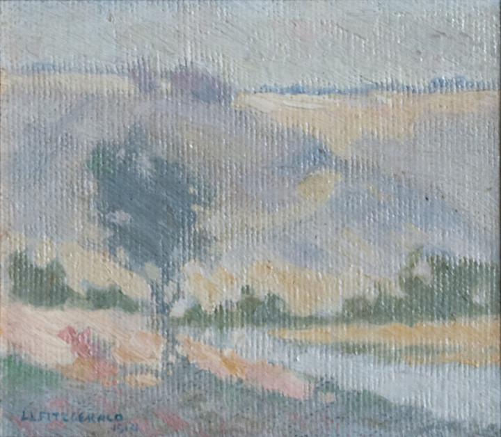 Lionel LeMoine FitzGerald Manitoba Landscape, 1914 Oil on masonite 4 1/2 x 5 1/2 in 11.4 x 14 cm
