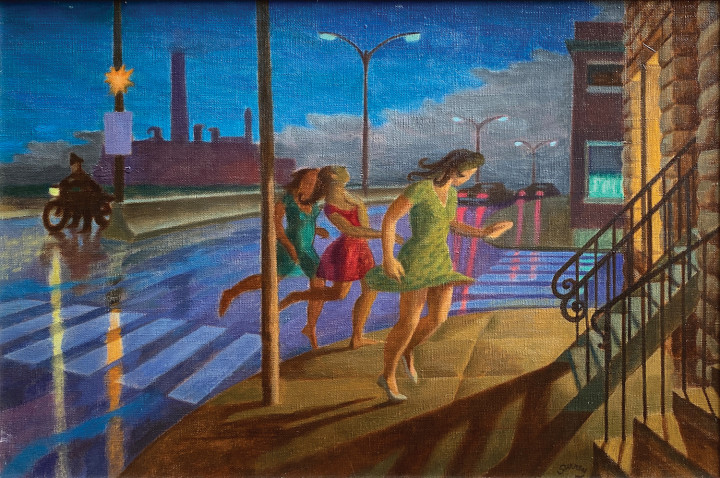 Philip Surrey Three Girls, 1969 (circa) Oil on canvas 18 x 24 in 45.7 x 61 cm