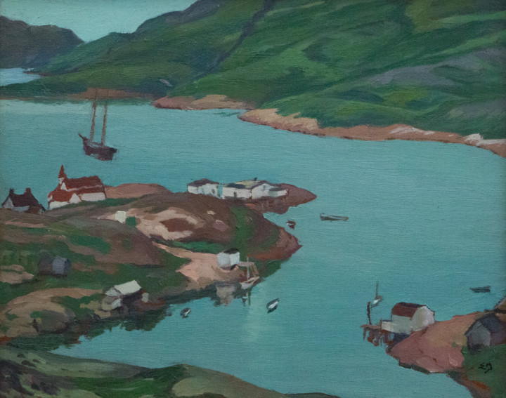 Edwin Holgate Mutton Bay, 1932 Oil on panel - Huile sur panneau 8 1/2 x 10 1/2 in 21.6 x 26.7 cm