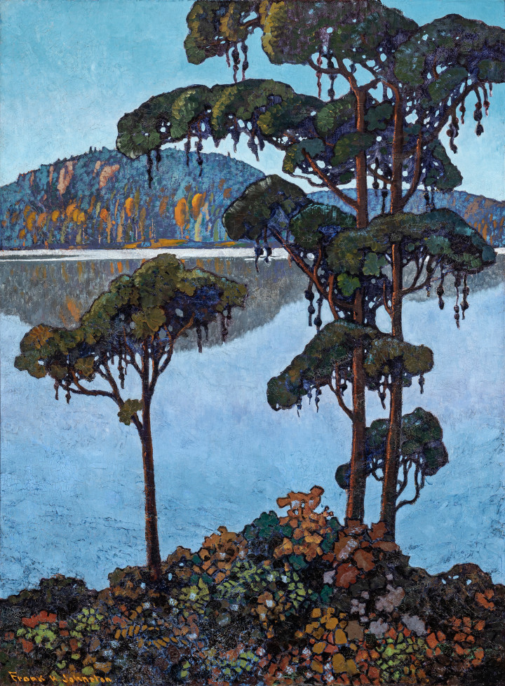 Francis Hans (Frank/Franz) Johnston Tribute to Tom Thomson, 1923-1925 (circa) Oil on canvas 57 x 42 in 144.8 x 106.7 cm