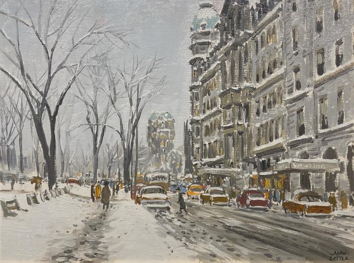 John Little Peel St. and Dorchester, 1959 (circa) Oil on canvas board 12 x 16 in 30.5 x 40.6 cm